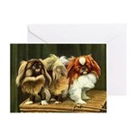 Pekingese Art Greeting Cards