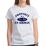 Property of a US Airman USAF Women's T-Shirt
