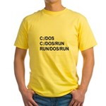 See DOS Run Yellow T-Shirt
