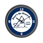 Don't Be Scared Shark Wall Clock