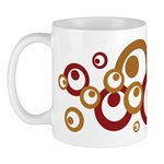 Retro Orange Circles Mug