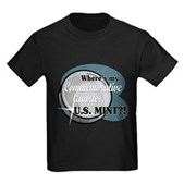 Where's My Quarter? Kids Dark T-Shirt