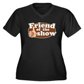 Friend of the Show Women's Plus Size V-Neck Dark T