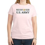 MAJ - Proud of my soldier Women's Pink T-Shirt