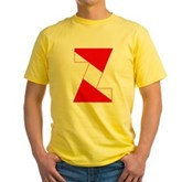 Scuba Flag Letter Z Yellow T-Shirt