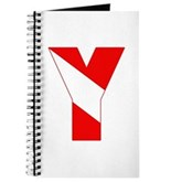 Scuba Flag Letter Y Journal