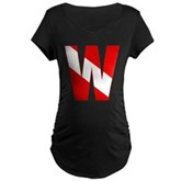 Scuba Flag Letter W Maternity Dark T-Shirt