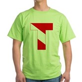 Scuba Flag Letter T Green T-Shirt