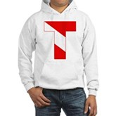 Scuba Flag Letter T Hooded Sweatshirt