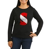 Scuba Flag Letter S Women's Long Sleeve Dark T-Shi