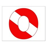 Scuba Flag Letter O Small Poster