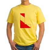 Scuba Flag Letter L Yellow T-Shirt