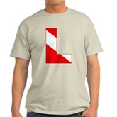 Scuba Flag Letter L Light T-Shirt