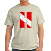 Scuba Flag Letter H Light T-Shirt