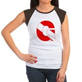 Scuba Flag Letter G Women's Cap Sleeve T-Shirt