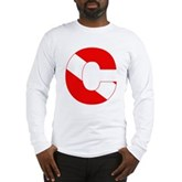 Scuba Flag Letter C Long Sleeve T-Shirt