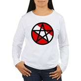 Scuba Flag Pentagram Women's Long Sleeve T-Shirt