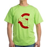 Scuba Flag Euro Sign Green T-Shirt