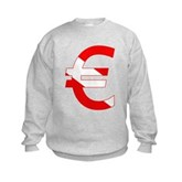 Scuba Flag Euro Sign Kids Sweatshirt