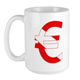 Scuba Flag Euro Sign Large Mug