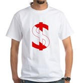 Scuba Flag Dollar Sign White T-Shirt