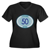 50 Logged Dives Women's Plus Size V-Neck Dark T-Sh