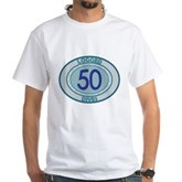 50 Logged Dives White T-Shirt