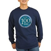 100 Dives Milestone Long Sleeve Dark T-Shirt