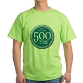 500 Dives Milestone Green T-Shirt