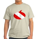 Text Bubble Dive Flag Light T-Shirt
