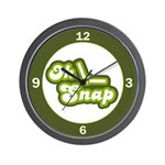 Oh Snap Wall Clock