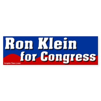 Ron Klein for Congress bumper sticker