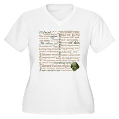 Shakespeare Insults T-shirts & Gifts Women's Plus Size V-Neck T-Shirt