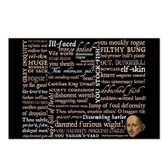 Shakespeare Insults T-shirts & Gifts Postcards (Package of 8)