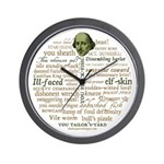Shakespeare Insults T-shirts & Gifts Wall Clock