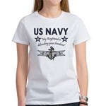 Navy Boyfriend Defending Free Women's T-Shirt