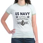 Navy Grandson defending Jr. Ringer T-Shirt