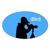 iBird (blue) Oval Sticker