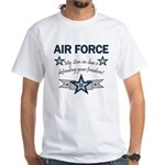 Son-in-law defending freedom White T-Shirt
