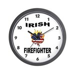 Irish USA Firemen Wall Clock