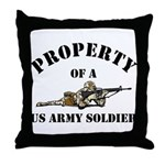 Property US Army Soldier Military Throw Pillow