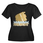 Fail Boat Women's Plus Size Scoop Neck Dark T-Shirt