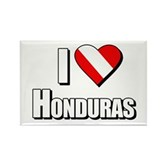  Scuba: I Love Honduras Rectangle Magnet