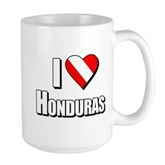  Scuba: I Love Honduras Large Mug