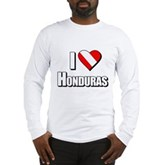 Scuba: I Love Honduras Long Sleeve T-Shirt