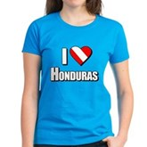 Scuba: I Love Honduras Women's Dark T-Shirt