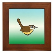 Birdorable Carolina Wren Framed Tile