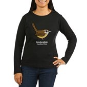 Birdorable Carolina Wren Women's Long Sleeve Dark