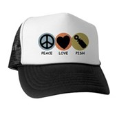  Peace Love Pish Trucker Hat