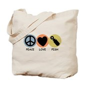 Peace Love Pish Tote Bag